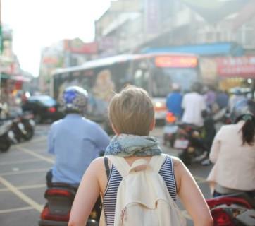 Travel, selfie, check-in