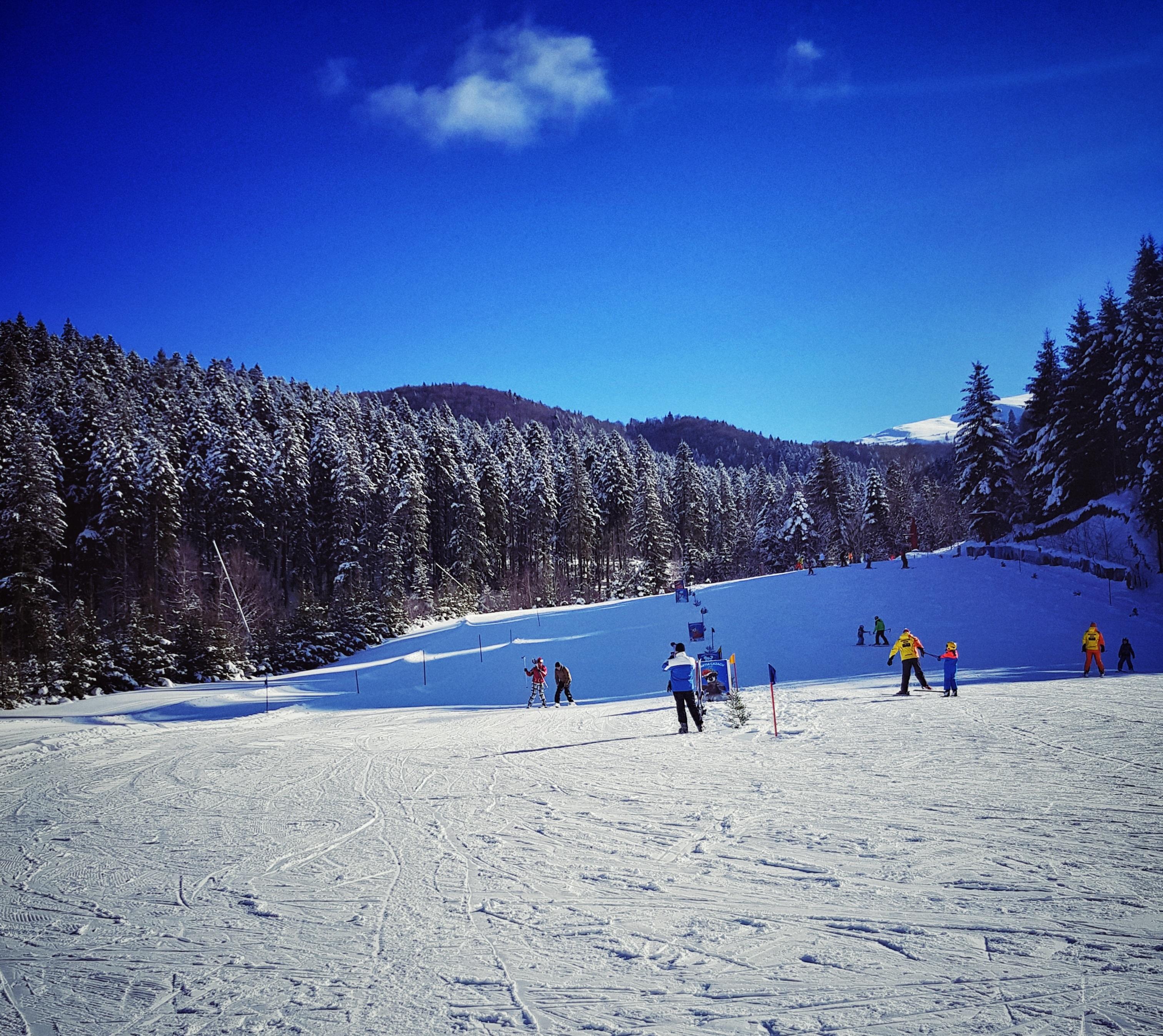 prima lectie de schi