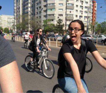 marsul biciclistilor si eu