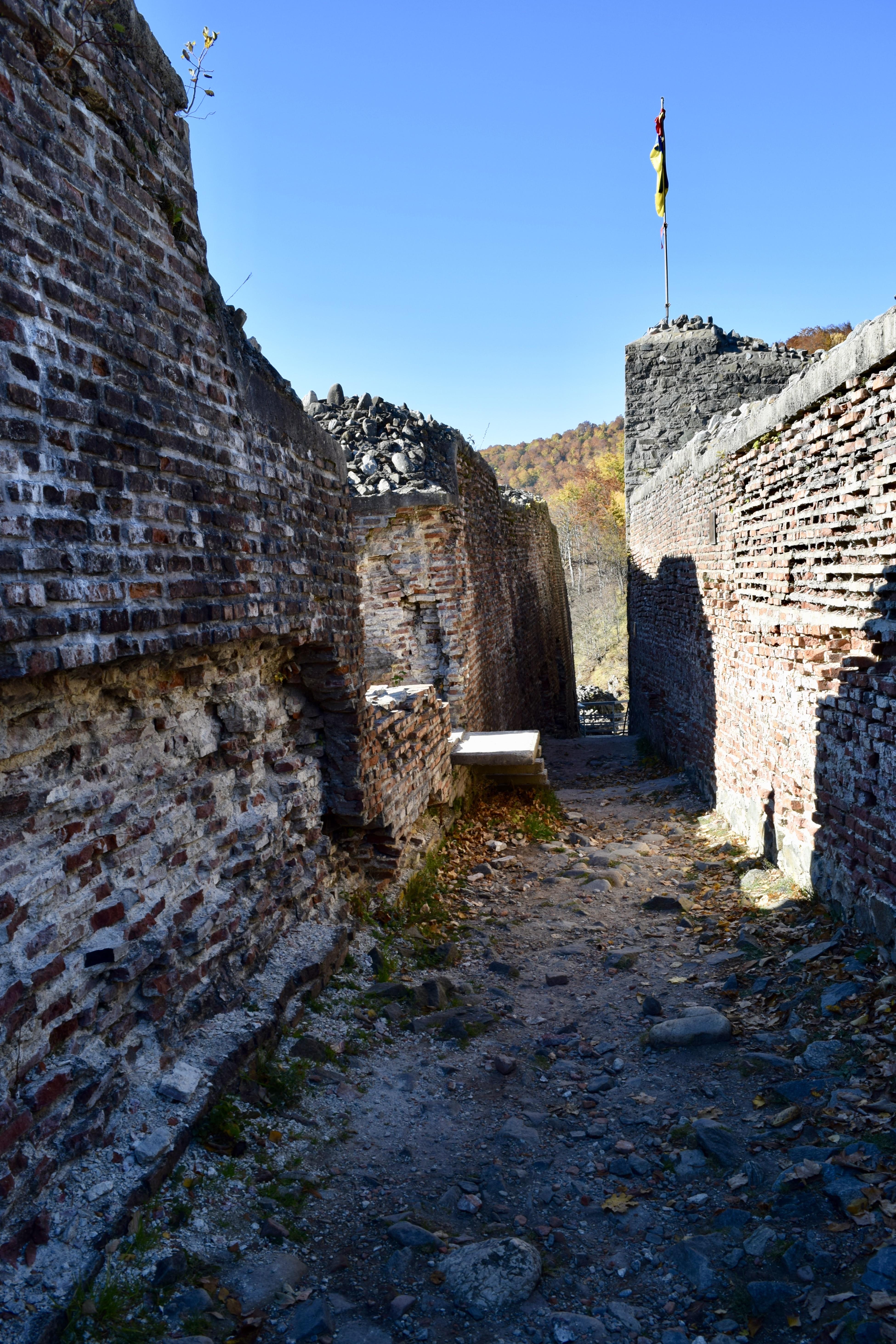 cetatea poenari - interior