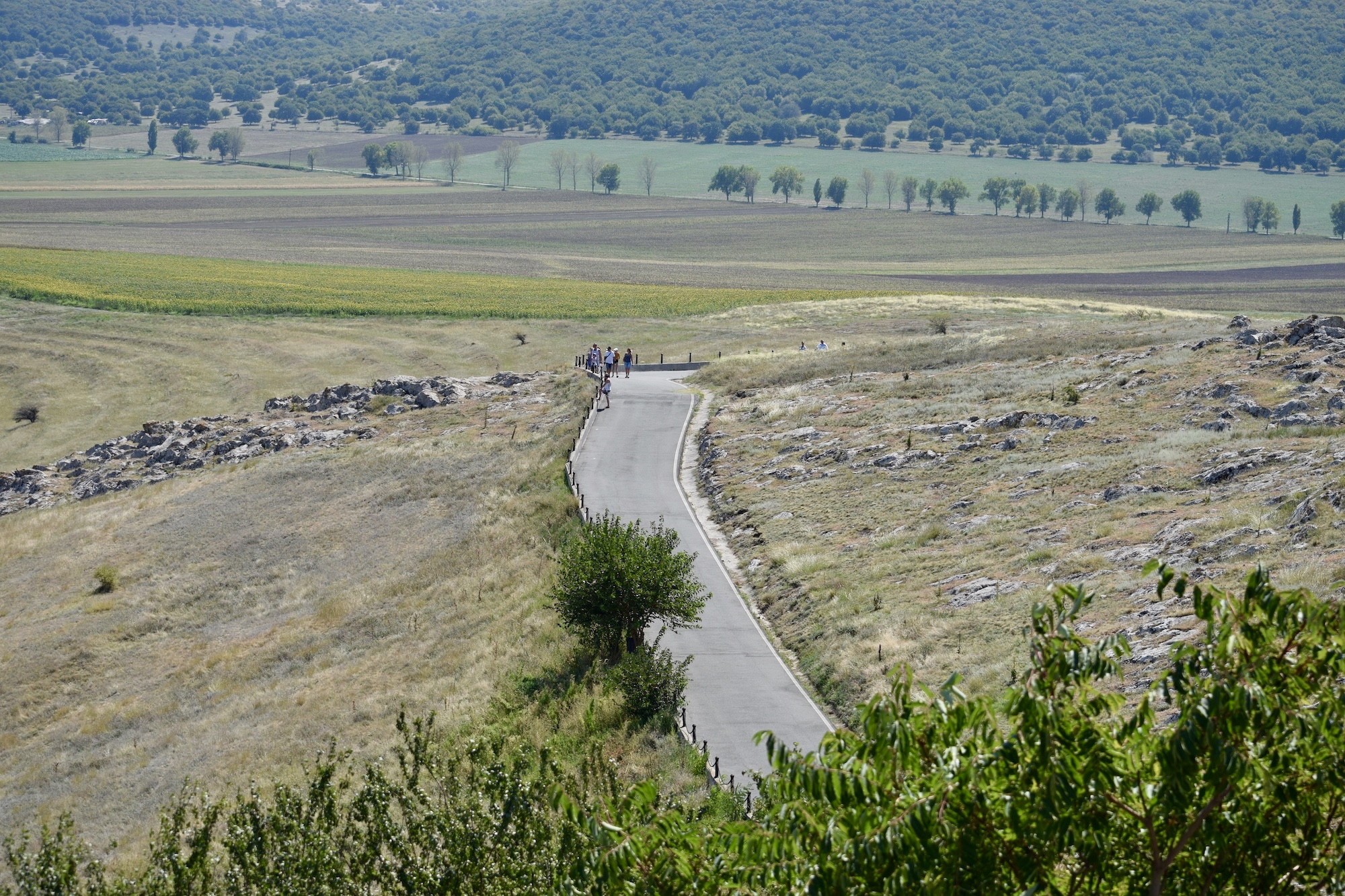 Enisala - Drumul către cetate